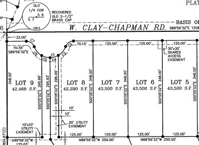 Residential Lots & Land For Sale: 4 Lots Clay-Chapman Road
