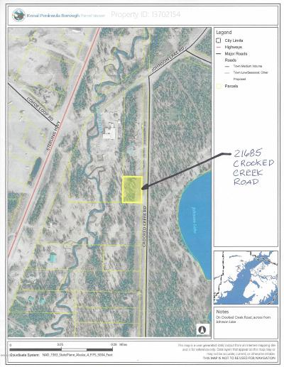 Kasilof Residential Lots & Land For Sale: 21685 Crooked Creek Road