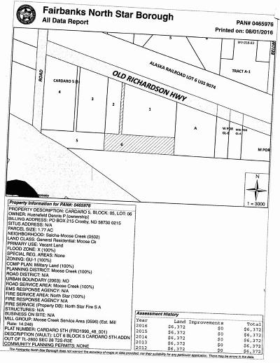 North Pole Residential Lots & Land For Sale: L6b5 Old Richardson Highway