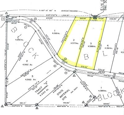 Delta Junction Residential Lots & Land For Sale: L2&3b2 Jeff Drive