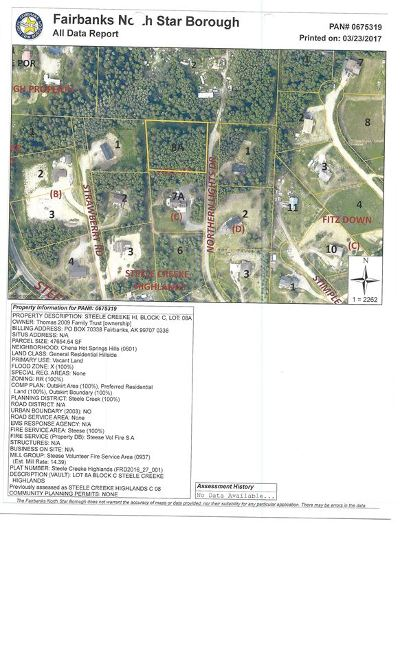 Fairbanks AK Residential Lots & Land For Sale: $45,000