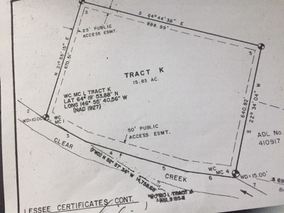 Salcha Residential Lots & Land For Sale: Tract K Clear Creek