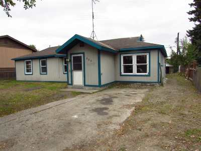 Fairbanks AK Single Family Home For Sale: $129,000