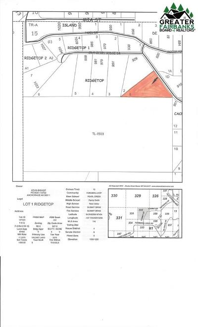 Fairbanks North Star Borough Residential Lots & Land For Sale: 915 Cranberry Ridge Drive