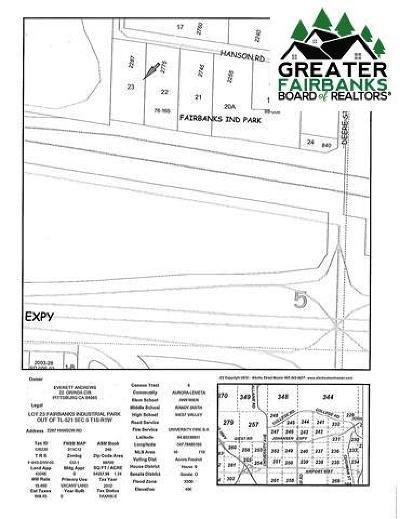 Fairbanks Commercial Lots & Land For Sale: 2287 Hanson Road