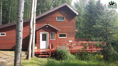 Chena Hot Springs, Clear Creek, Ester, Fairbanks, Fox, Hayes Creek, North Pole, Salcha, Two Rivers Single Family Home For Sale: 5865 Reconstruction Road