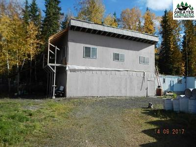 Chena Hot Springs, Clear Creek, Ester, Fairbanks, Fox, Hayes Creek, North Pole, Salcha, Two Rivers Single Family Home For Sale: 1250 Hartzog Loop