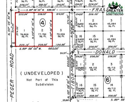 Fairbanks Commercial Lots & Land For Sale: Nhn Peger Road