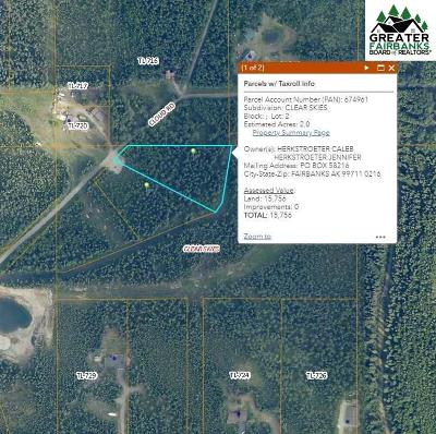 NORTH POLE Residential Lots & Land For Sale: Nhn Cloud Road