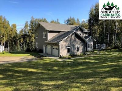 Chena Hot Springs, Clear Creek, Ester, Fairbanks, Fox, Hayes Creek, North Pole, Salcha, Two Rivers Single Family Home For Sale: 1314 Steele Creek Road