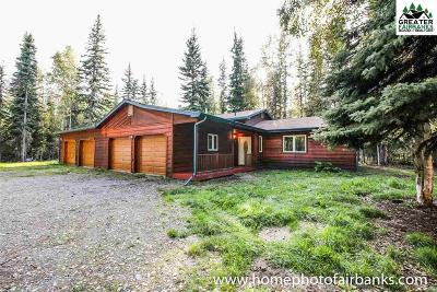 Chena Hot Springs, Clear Creek, Ester, Fairbanks, Fox, Hayes Creek, North Pole, Salcha, Two Rivers Single Family Home For Sale: 2732 Deepwoods Drive