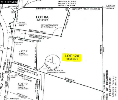 Ketchikan Commercial For Sale: Lot 12a Old Dairy Road
