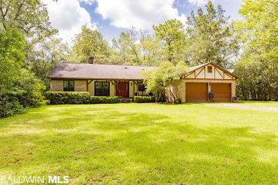 Summerdale Single Family Home For Sale: 17847 River Road