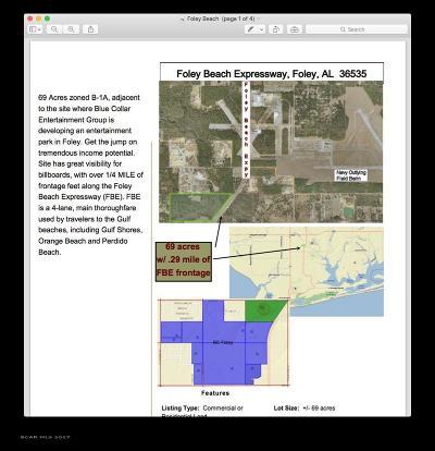 Foley Residential Lots & Land For Sale: 0 Foley Beach E Foley Beach Exp
