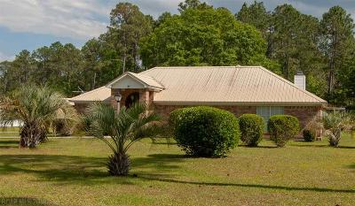 Gulf Shores Single Family Home For Sale: 6027 Shelby Home Rd