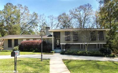 Mobile County Single Family Home For Sale: 7 Spring Bank Road