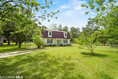 Mobile County Single Family Home For Sale: 10966 Canal Drive