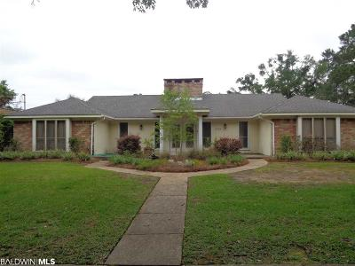 Mobile County Single Family Home For Sale: 3724 S Claridge Road