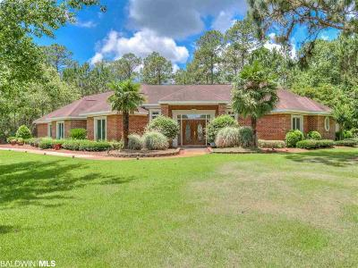 Bon Secour, Daphne, Fairhope, Foley, Magnolia Springs Single Family Home For Sale: 8495 Forest Ln