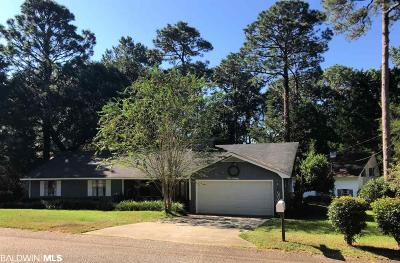 Bon Secour, Daphne, Fairhope, Foley, Magnolia Springs Single Family Home For Sale: 180 Rolling Hill Drive