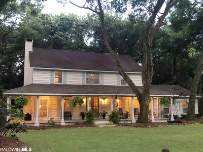 Magnolia Springs Single Family Home For Sale: 14050 Woodland Drive