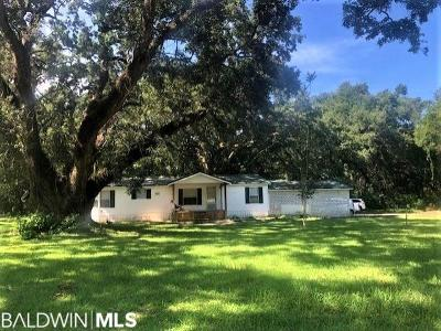 Foley Single Family Home For Sale: 12020 W Bay Road