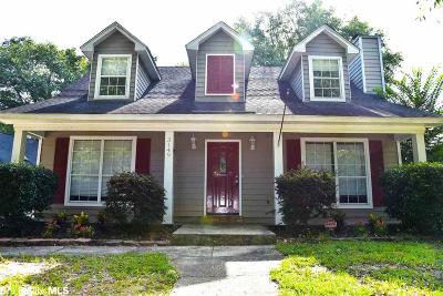 Mobile County Single Family Home For Sale: 3149 W Wellborne Dr