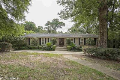 Mobile County Single Family Home For Sale: 7 Ashley Drive