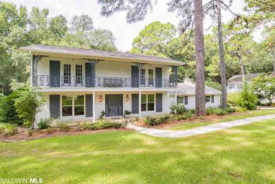 Bon Secour, Daphne, Fairhope, Foley, Magnolia Springs Single Family Home For Sale: 508 Washington Drive