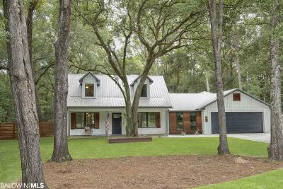 Bon Secour, Daphne, Fairhope, Foley, Magnolia Springs Single Family Home For Sale: 110 Echo Lane