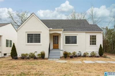 Homewood Single Family Home For Sale: 1014 Palmetto St