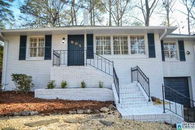 Homewood AL Single Family Home For Sale: $399,990
