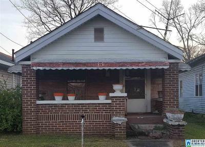 Birmingham AL Single Family Home For Sale: $11,000