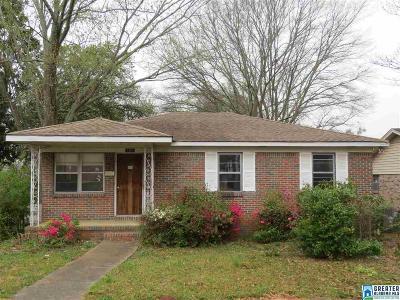 Birmingham AL Single Family Home For Sale: $32,000