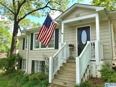 Homewood AL Single Family Home For Sale: $499,900