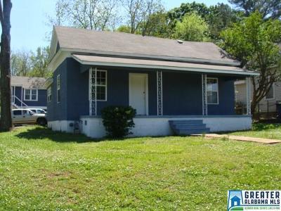 Birmingham AL Single Family Home For Sale: $82,500