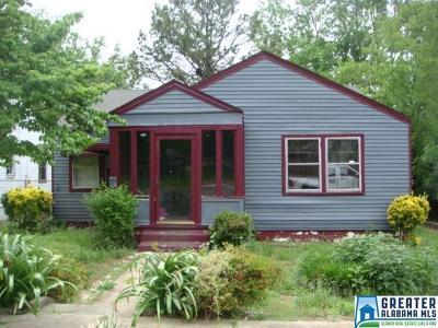 Birmingham AL Single Family Home For Sale: $13,900