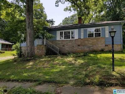 Birmingham AL Single Family Home For Sale: $49,000