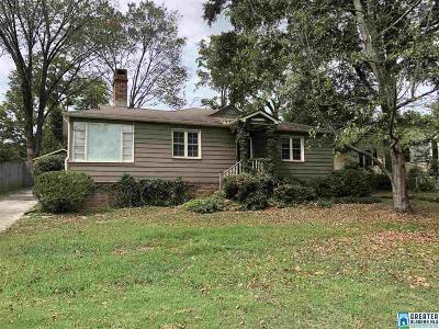 Vestavia Hills Single Family Home For Sale: 2032 Chestnut Rd