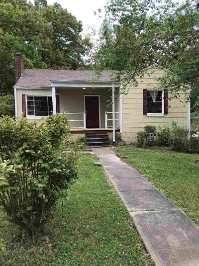 Birmingham AL Single Family Home For Sale: $49,000