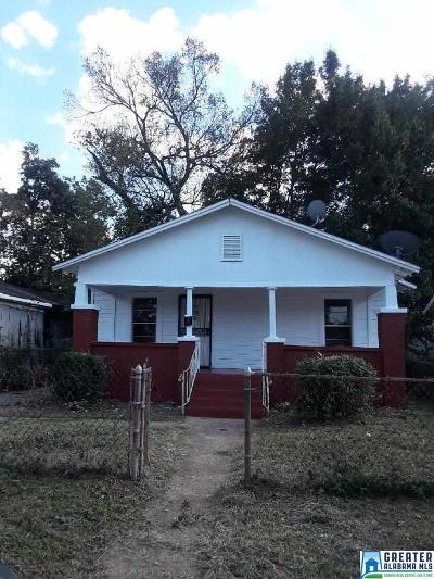 Birmingham AL Single Family Home For Sale: $39,500