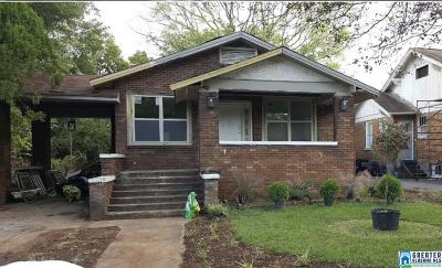 Birmingham AL Single Family Home For Sale: $55,000