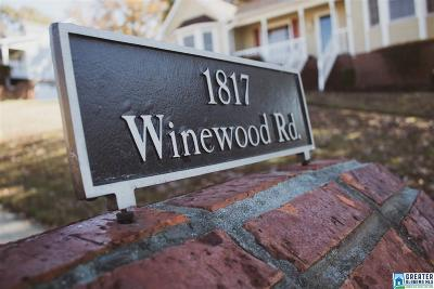 Birmingham Single Family Home For Sale: 1817 Winewood Rd