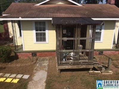 Birmingham AL Single Family Home For Sale: $79,900