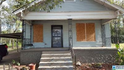 Birmingham AL Single Family Home For Sale: $35,000
