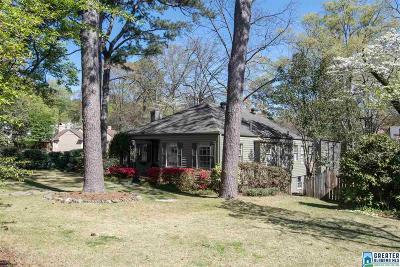 Homewood AL Single Family Home For Sale: $399,000