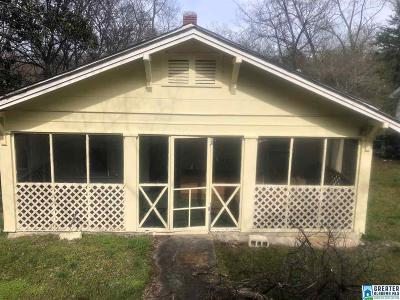Birmingham AL Single Family Home For Sale: $40,000