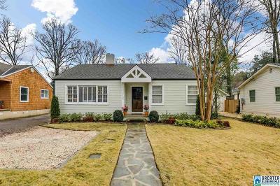 Homewood AL Single Family Home For Sale: $364,500