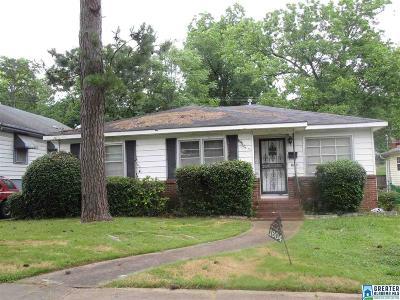 Birmingham AL Single Family Home For Sale: $42,500