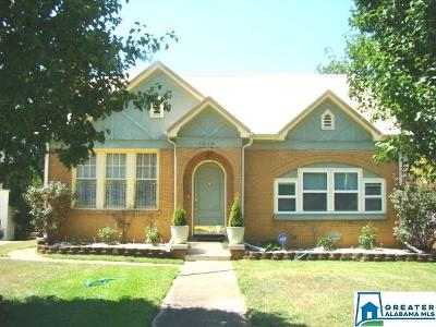 Anniston Single Family Home For Sale: 1518 Woodstock Ave